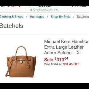 Michael Kors Hamilton Leather Acorn Satchel